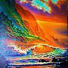 Napali Coast Sunset by jyruff