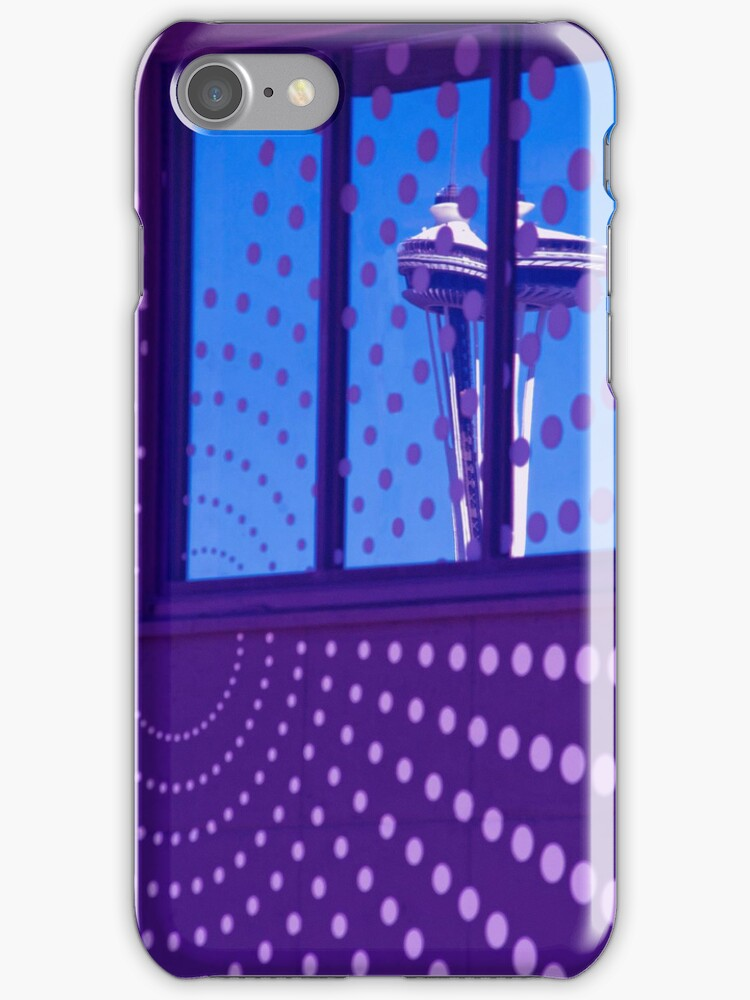 Blue Seattle iPhone case. by Todd Rollins