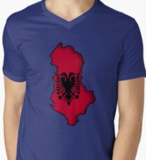 Zammuel's Country Series - Albania (Blank) Mens V-Neck T-Shirt