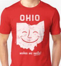 Ohio Makes Me Smile! Cool Vintage Retro Tee Unisex T-Shirt