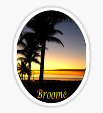 Tropical Sunset, Broome Sticker