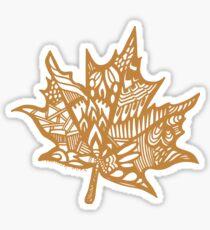 leaf_brown Sticker