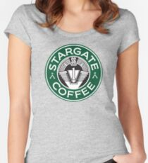 Stargate sg1 Coffee Women's Fitted Scoop T-Shirt