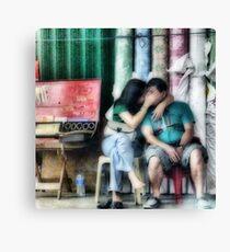 Secret kiss Canvas Print