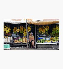Fruit stall, Tagaytay, Philippines Photographic Print