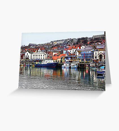 Scarborough Harbour Greeting Card