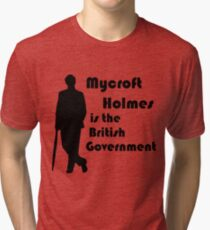 Mycroft Holmes, British Government (Black) Tri-blend T-Shirt
