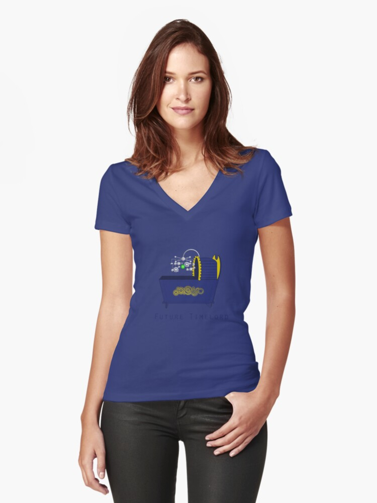 Future Timelord Women's Fitted V-Neck T-Shirt Front