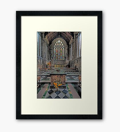 Cathedral of the Peak Alter Framed Print