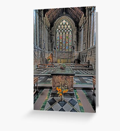 Cathedral of the Peak Alter Greeting Card