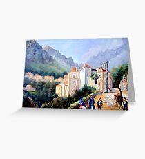 Óleo sobre tela - Oil on canvas - Huile sur toile Greeting Card