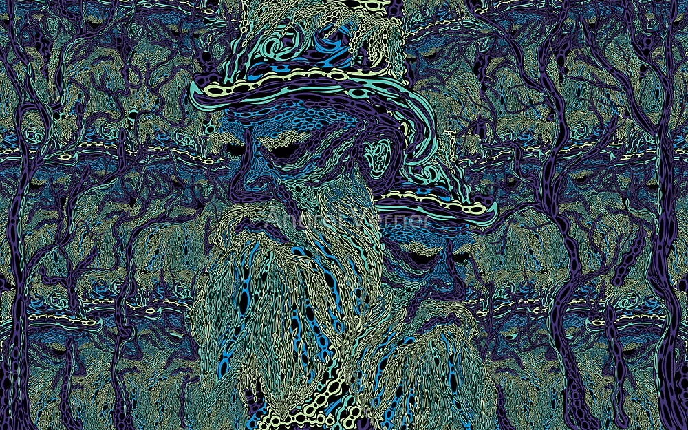 Tolstoy psychedelic wallpaper by Andrei Verner