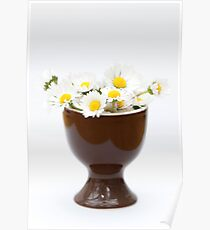 Eggcup Daisies Poster