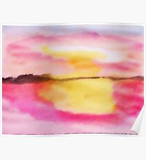 Early morning glory!  watercolor Poster