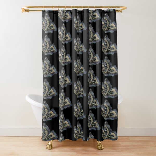 Ceramic Butterfly Shower Curtain