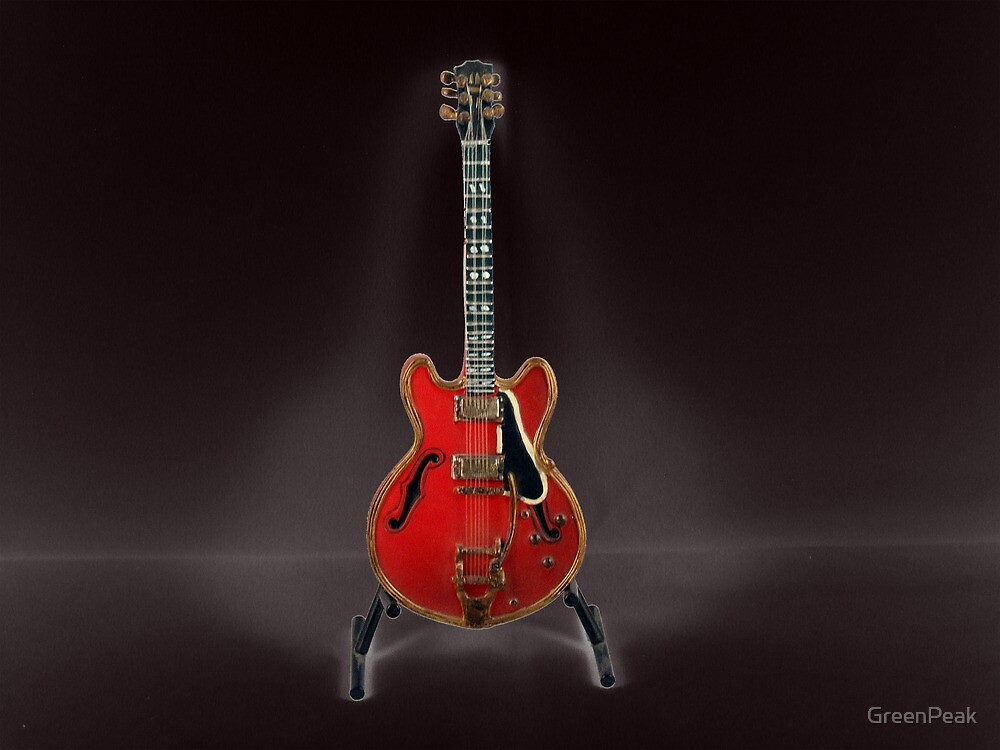 Red Guitar by Paul  Green
