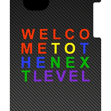 Carbon Fiber SEGA WELCOME TO THE NEXT LEVEL iPhone Case by kalitarios