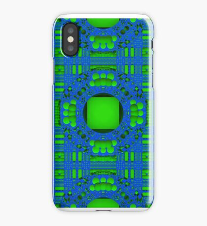 Blue & Green Pattern for iPhone iPhone Case
