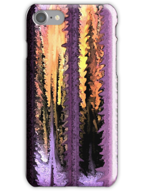 iPhone Case of painting..Forest for the Trees by linmarie