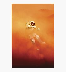 Astronaut in a Dust Storm Photographic Print
