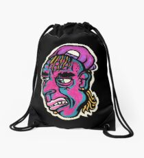 Burnout - Black Background Version Drawstring Bag