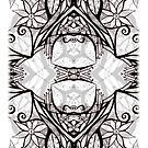 iphone case - black and white kaleidoscope by MelDavies