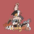 Cat tower by KisaSunrise