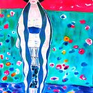 "Lady in Blue - My Hommage to Klimt's ""Portrait of Adele Bloch-Bauer "" by CarolineLembke"