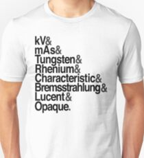 Radiology from-to Helvetica Unisex T-Shirt