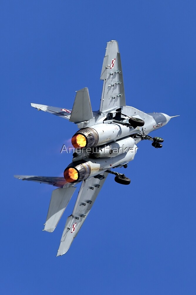 Polish Air Force Mikoyan Gurevich MiG-29A Fulcrum A by Andrew Harker
