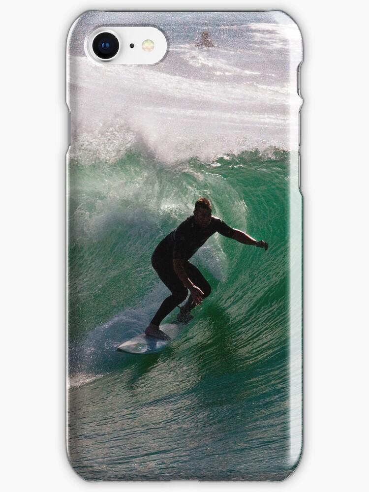Surfing  - iPhone case by Odille Esmonde-Morgan
