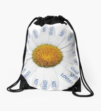 Loves Me? Loves Me Not? Drawstring Bag