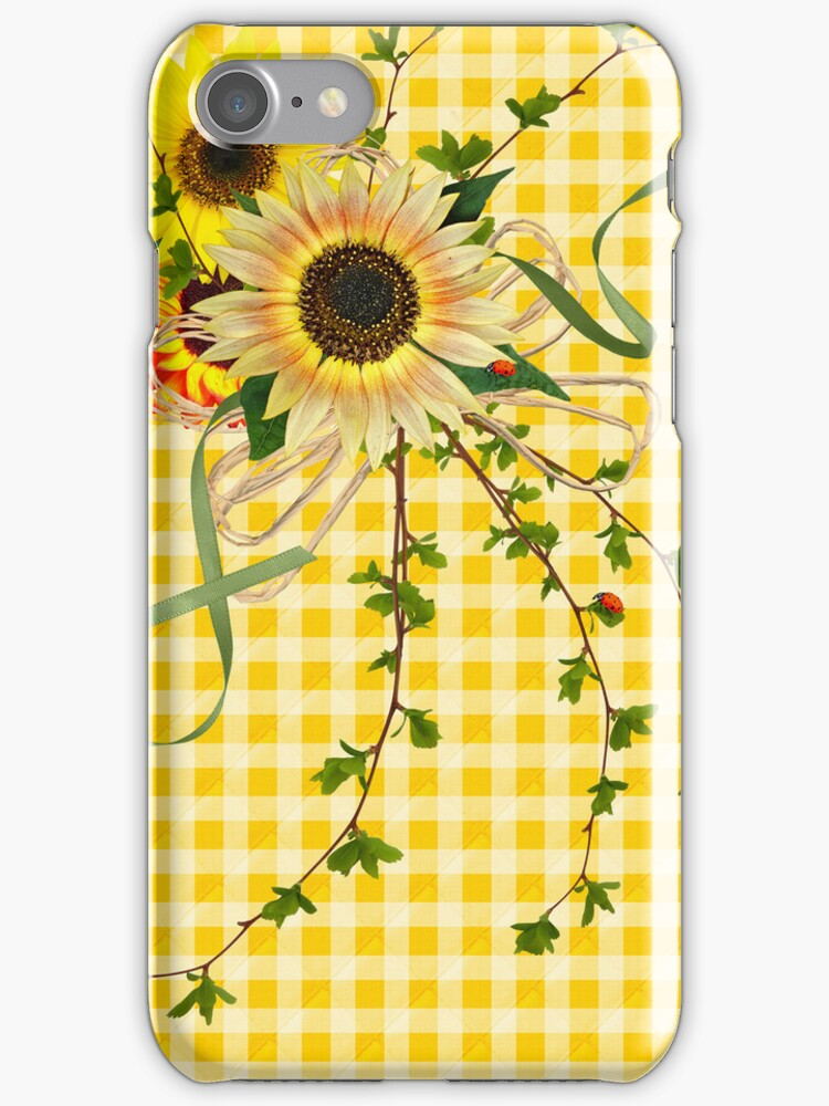 Sunflowers (IPhone case) by Maria Dryfhout