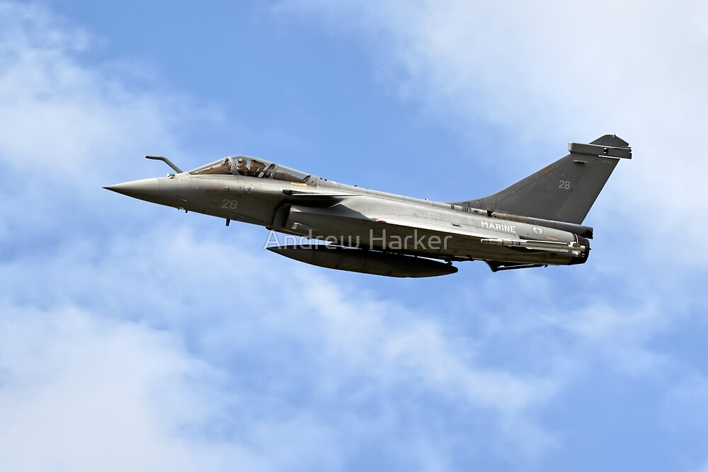 French Navy Dassault Rafale M 28  by Andrew Harker