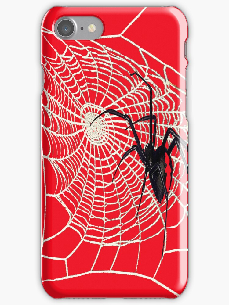 redback spider phone case by Kestrelle