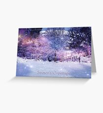 Magical Snow Scene (with greeting) Greeting Card