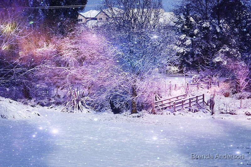 Quot Magical Snow Scene Quot By Brenda Anderson Redbubble
