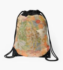 Tiki Flower Drawstring Bag