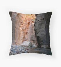 Strange Rock - The Narrows Throw Pillow