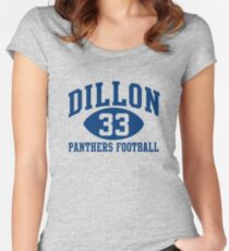 Dillon Panthers Football #33 Women's Fitted Scoop T-Shirt
