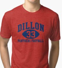 Dillon Panthers Football #33 Tri-blend T-Shirt