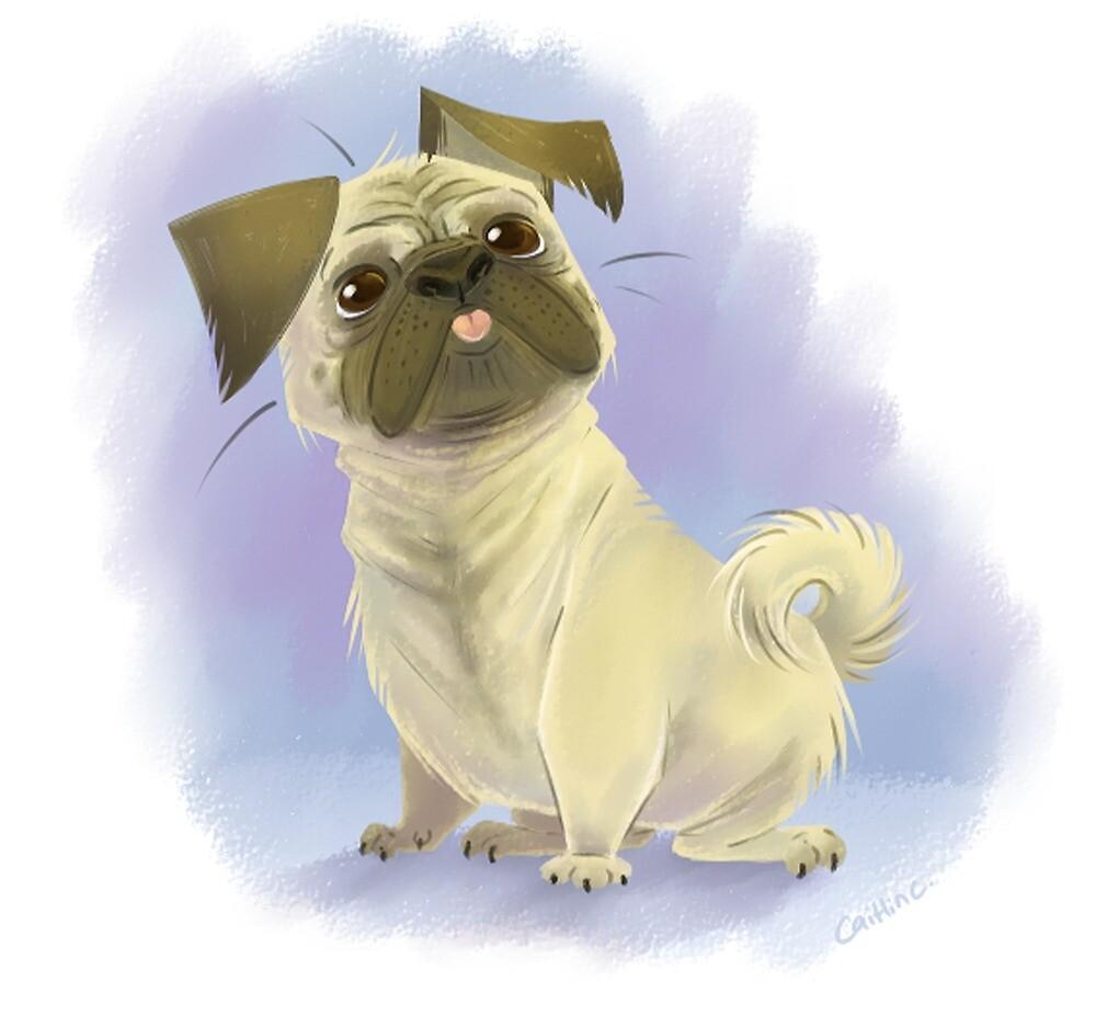 Pug Love by ninied