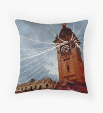 Brighton Clock Tower with Lights Throw Pillow