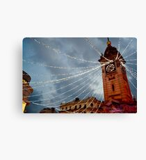 Brighton Clock Tower with Lights Canvas Print