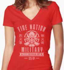 Avatar Fire Nation Women's Fitted V-Neck T-Shirt