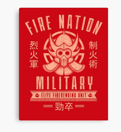Avatar Fire Nation Canvas Print
