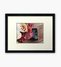 Flower Book Framed Print