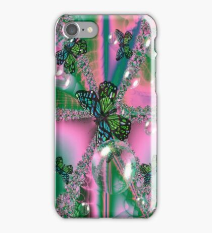 Butterfly's & Bubbles Fractal (iPhone case) iPhone Case/Skin