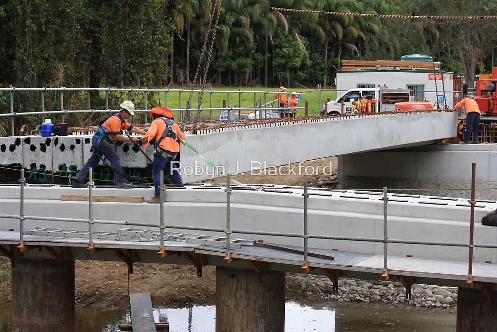 Men At Work On A Rural Bridge by aussiebushstick