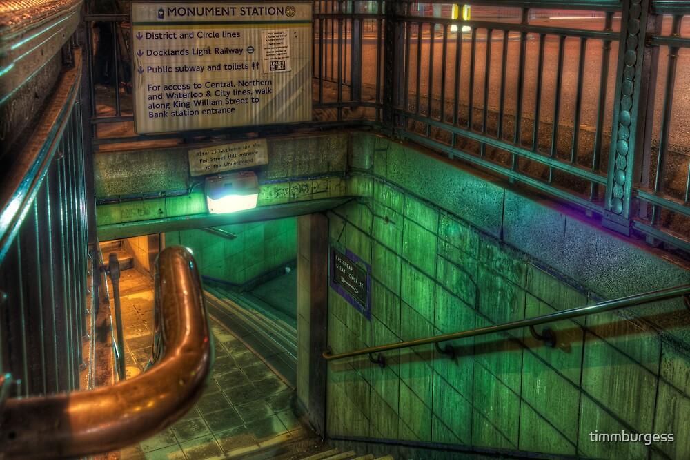 Going Underground by timmburgess